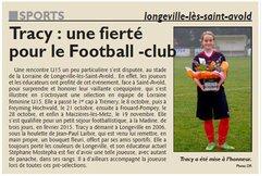 Tracy : une fierté pour le Football club de Longeville
