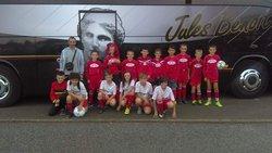U11, U13 devant le bus d'Avion (Lens)  à Marpent - Football Club de Marpent