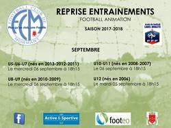 REPRISE ENTRAINEMENTS - FOOTBALL CLUB DE MORMANT