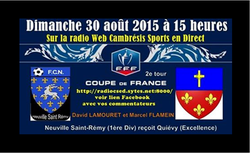 2e tour Coupe de France.  FCN A  - QUIEVY US (EXCELLENCE)
