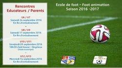 Rencontres Educateurs/Parents - FOOTBALL CLUB OLYMPIQUE CHANDIEU