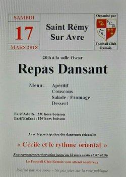 REPAS DANSANT LE 17 MARS 2018 - FC REMOIS