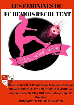 RECRUTEMENT FEMININE 6-12 ANS - FC REMOIS
