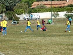 l'équipe 1 en coupe contre l'US Minervois - FC Villedubert