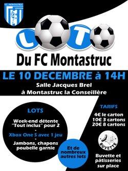 LOTO Le 10 Decembre - Football Club Montastruc