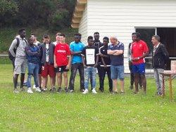 Réception par la municipalité de SARRAZAC des U18