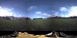 Une photo 360° d'un échauffement des U11