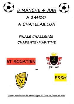 L'équipe sénior en finale challenge Charente Maritime - FSSH ST HILAIRE DE VILLEFRANCHE