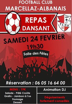 Soirée FC Marcellaz-Albanais