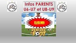 CALENDRIERS U6-U7 et U8-U9