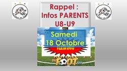 U9 Samedi 18 Octobre : Plateau à Plescop