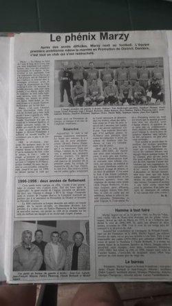 JSM 50 Ans le journal de Stéphane (extraits)les années 2000 - JS MARZY