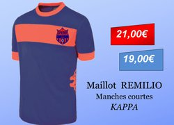 Maillot Remilio manches courtes Adulte KAPPA