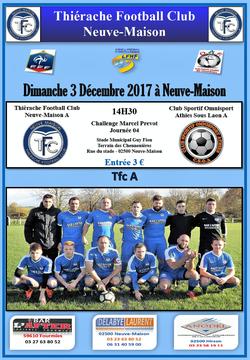 Matchs du 2 et 3 Décembre - NEUVE MAISON TFC