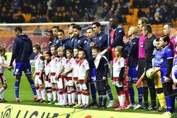U11-Protocole Joueurs  Match Ligue1 ESTAC-BORDEAUX  du 13-01-2018 - OLYMPIQUE DE MONTIERAMEY