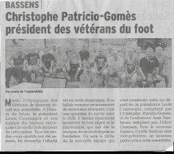 A peine élu , déja dans le Dauphine ( RESPECT ) - Olympique des Vétérans de Bassens