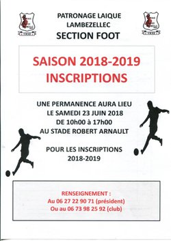 RE-INSCRIPTIONS SAISON 2018 2019