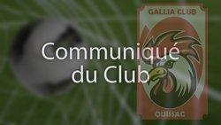 Assemblée générale du club pour la saison 2015-2016