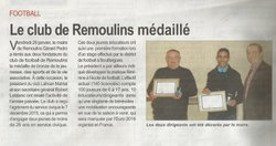 médailles des sports - REMOULINS FOOTBALL CLUB