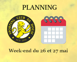 PLANNING WEEK-END DU 26 ET 27 MAI