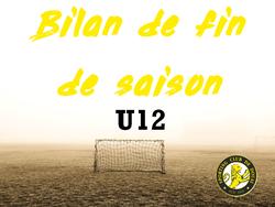 BILAN DE FIN DE SAISON : L'IMPLICATION POUR LES U12