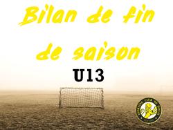 BILAN DE FIN DE SAISON : LES U13 ET BENOIT