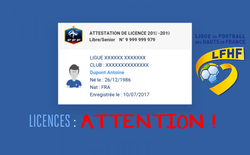 ATTENTION : RENOUVELLEMENT DES LICENCES