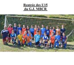 Rentrée de U15 du G.J. MBCR - S. C. MOUTHIERS FOOTBALL