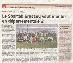 Article Bien Public - 27/07/18 - Spartak Bressey