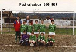 Les équipes saison 1986-1987 - Saint Sébastien Football