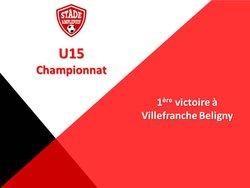 U15 : Belle victoire des jeunes amplepuisiens