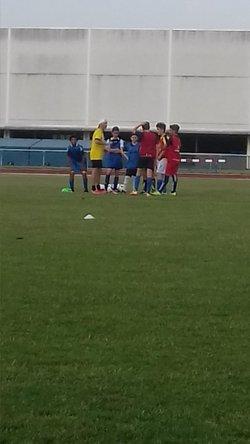 début d'entraînement Août 2017 - TERGNIER F.C. U14/U15