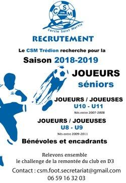 SAISON 2018/2019 - Trédion Cercle-Saint-Martin