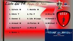 La Liste des Joueurs pour le 2ème  TOUR DE CDF - UNION CHATILLONNAISE COLOMBINE FOOTBALL