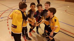 Photo de nos U9 vainqueur du tournoi de Cauderan - F C Médoc côte d' Argent