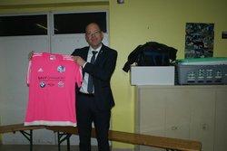 Remise de maillots par le garage SAVY (10/11/17) - Union Sportive Biesloise