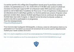 Section sportive du Collège des Campelières