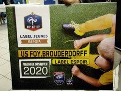 Remise du Label Jeunes FFF Espoir - Union Sportive du Foyer de Brouderdorff