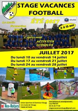 Stages Vacances Football US Semnoz Juillet 2017