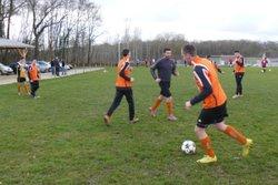 échauffement avant USSM-st germain du plain  (victoire 3-2)   11/01/2015 - union sportive san martinoise