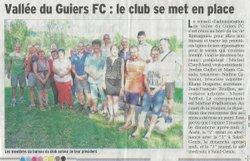 Articles du Dauphiné libéré saison 2017/2018 - Vallée du Guiers FC