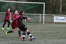 Match amical des U17F VGAB contre les Seniors Féminines VGAB (17/12/2017) à Bohars. - VGABohars Féminines