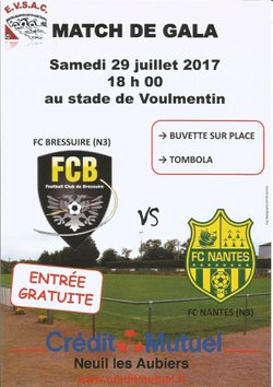 J-1 :29 Juillet 18h : Bressuire - Nantes 2