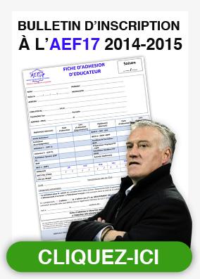 Bulletin d'adhésion AEF17