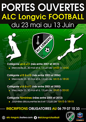 Affiche JPO 2018 foot Longvic