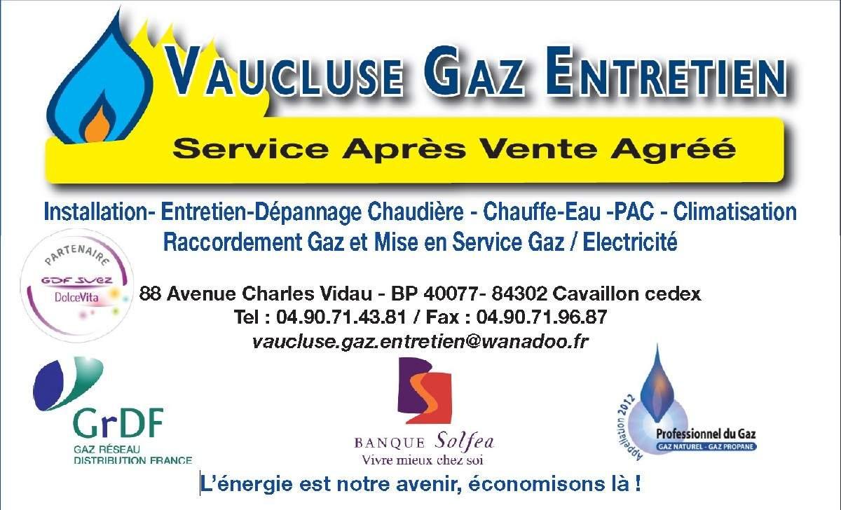 vaucluse gaz entretien cavaillon