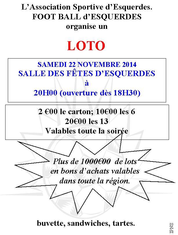 Invitation LOTO ASE 22 novembre 2014