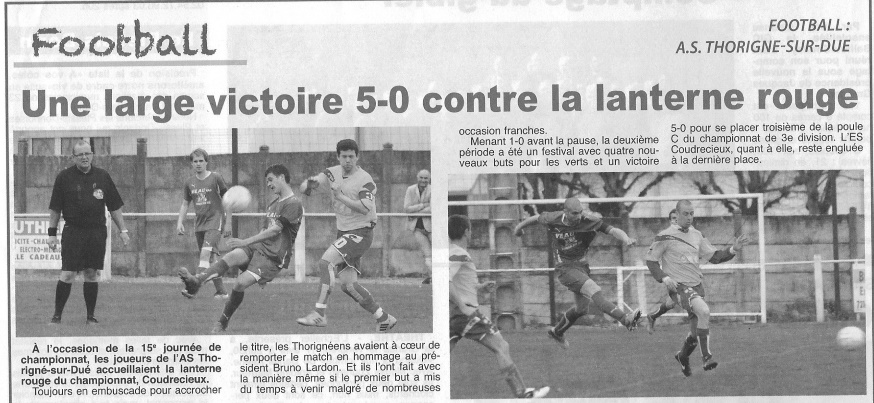 Championnat, saison 2014/2015 : AS Thorigne - AS St-Osmane
