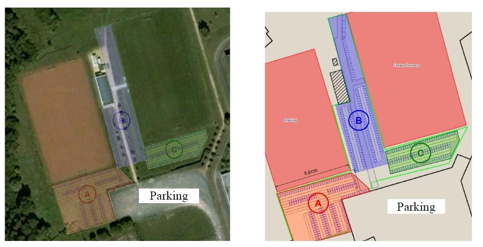 Plan des emplacements
