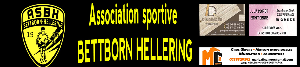 AS BETTBORN HELLERING : site officiel du club de foot de HELLERING LES FENETRANGE - footeo